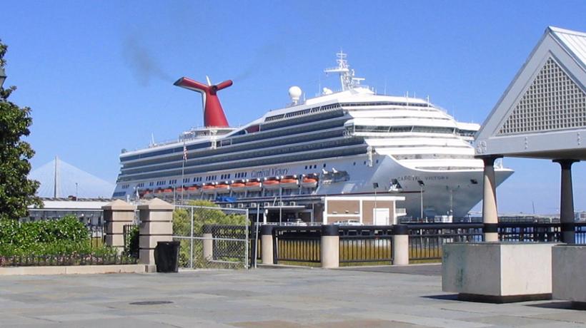 Cruise Ship in Charleston Harbor - via WikiMedia