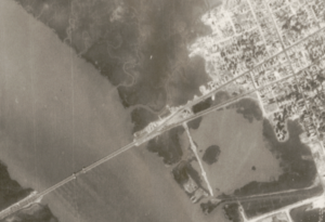Aerial photo of Gadsden Creek in 1939