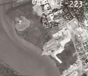 Aerial photo of Gadsden Creek in 1963