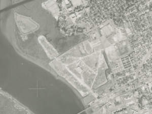 Aerial photo of the closed landfill in 1979
